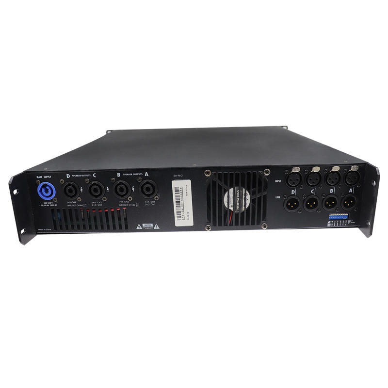 1600W 4channel professional digital power SMPS amplifier with screen