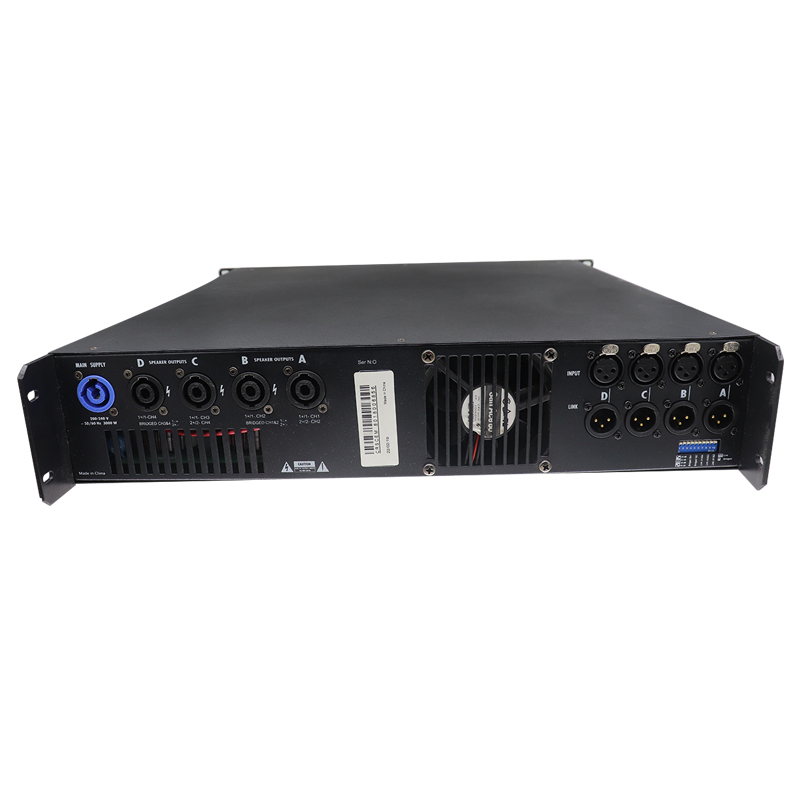 1600W 4channel power SMPS amplifier with screen-5