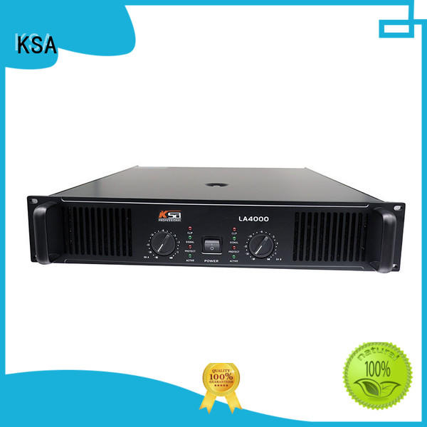 KSA cheap stereo power amplifier bulk production for night club