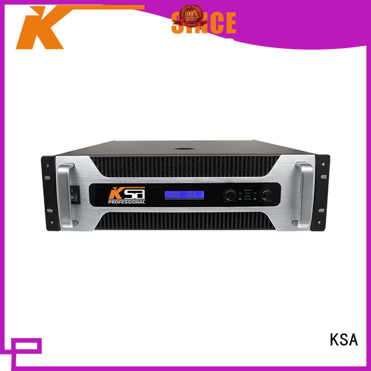 KSA power amplifier class h for stage
