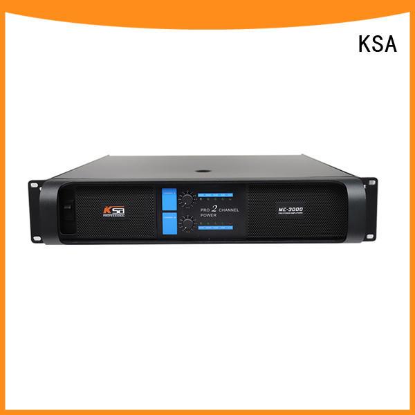 KSA audio power amplifiers manufacturer for club