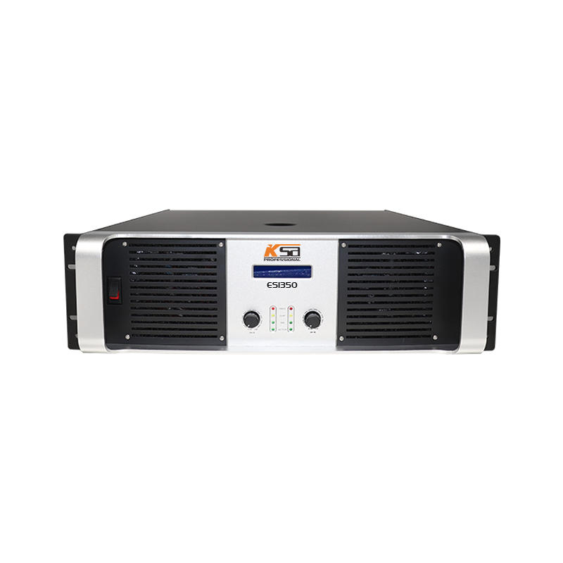 Good price TD circuit 3U two channel strong  professional power amplifier with LCD.