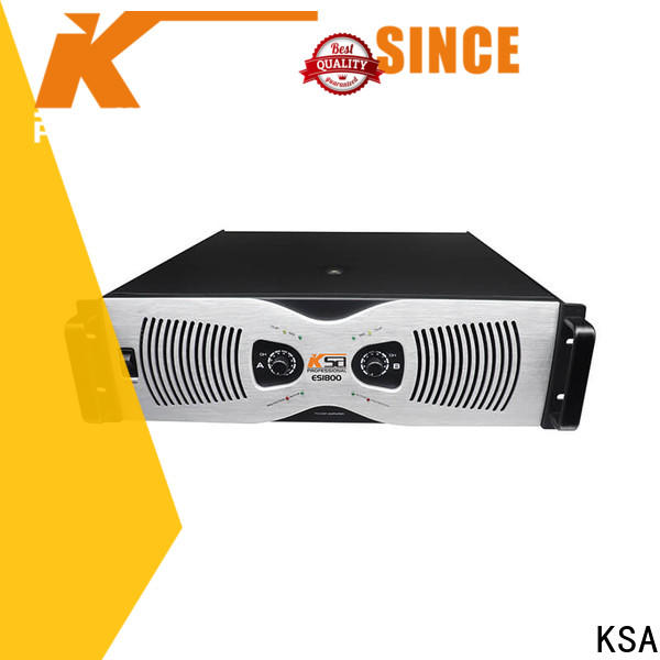KSA new power amplifier system supplier for stage