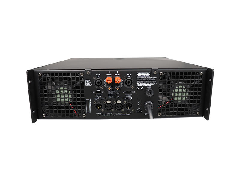 Good price 3U two channel strong circuit professional power amplifier with LCD.-3